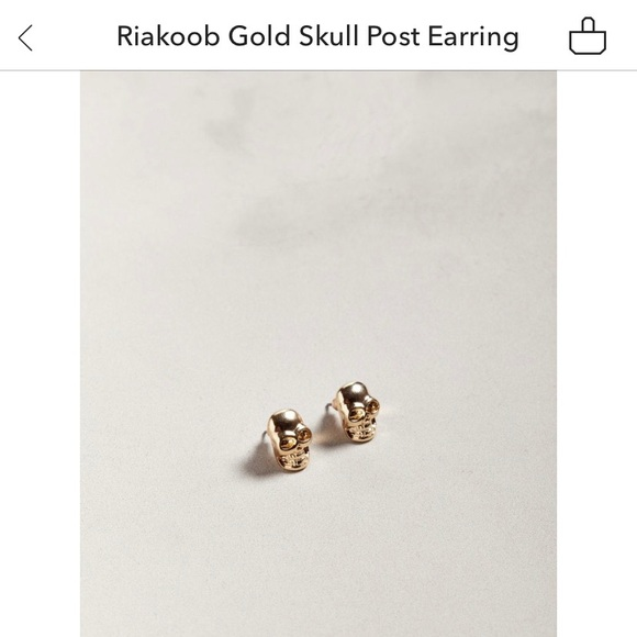 Urban Outfitters Jewelry - Gold Skull Earrings Urban Outfitters
